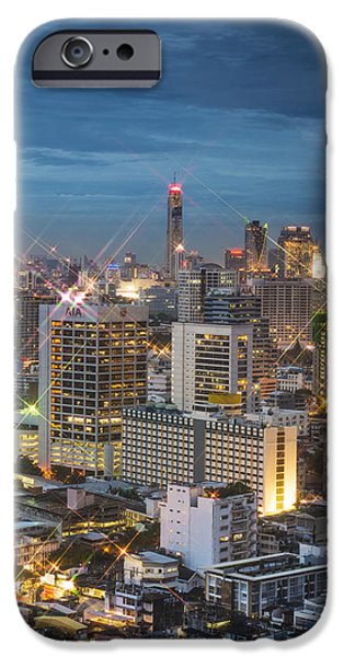 Business Photographs iPhone Cases - Baiyoke II Tower iPhone Case by Napon Tippayamontol