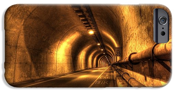Sausalito iPhone Cases - Baker Barry Tunnel iPhone Case by Mike Ronnebeck