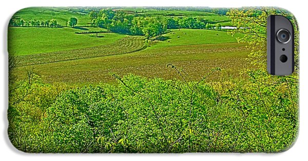 Natchez Trace Parkway iPhone Cases - Baker Bluff Overlook on MIle 405 of Natchez Trace Parkway-Tennessee iPhone Case by Ruth Hager