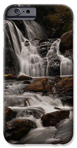 Lanscape iPhone Cases - Bakers Fall. Horton Plains National Park. Sri Lanka iPhone Case by Jenny Rainbow