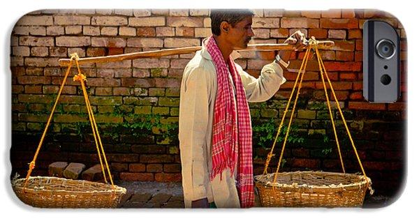 Tibetan Buddhism iPhone Cases - Balance Bhaktapur City of Devotees Artmif.lv iPhone Case by Raimond Klavins