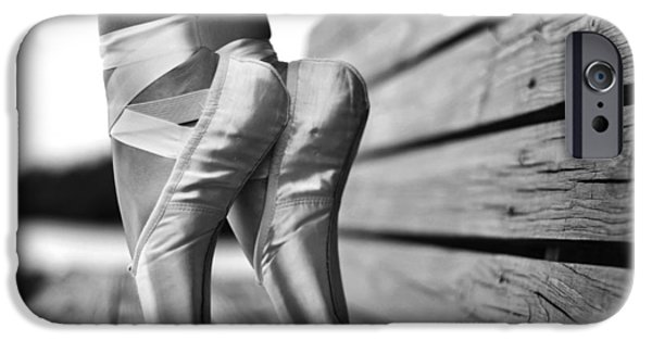 Ballet Dancers iPhone Cases - balance BW iPhone Case by Laura  Fasulo