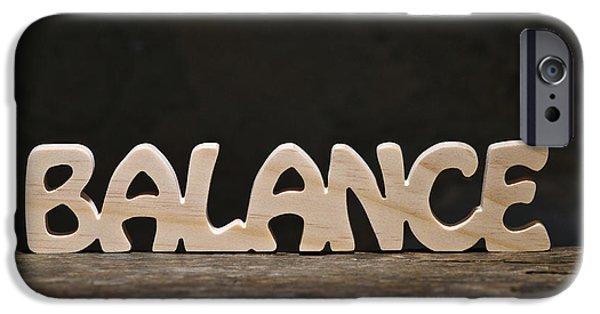 Positive Attitude iPhone Cases - Balance iPhone Case by Donald  Erickson