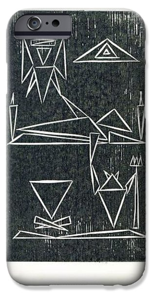 Lino Drawings iPhone Cases - Balance iPhone Case by Pal Szeplaky