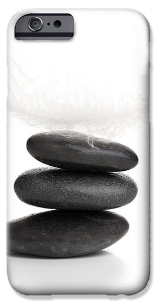 Pebble Sculptures iPhone Cases - Balance iPhone Case by Shawn Hempel