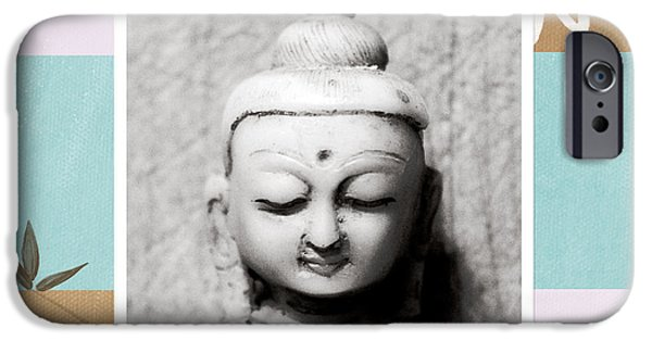 Buddha iPhone Cases - Balance- Zen Art iPhone Case by Linda Woods