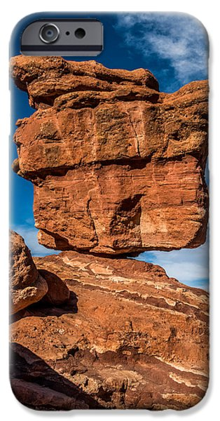 Beauty Mark Photographs iPhone Cases - Balanced rock garden of the gods iPhone Case by Paul Freidlund