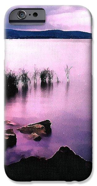 Balaton by night iPhone Case by Odon Czintos