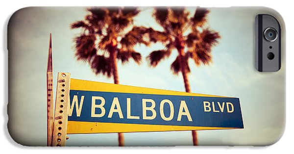 Recently Sold -  - Beach iPhone Cases - Balboa Blvd Street Sign Newport Beach Photo iPhone Case by Paul Velgos