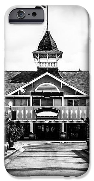 Balboa California Main Street Black and White Picture iPhone Case by Paul Velgos