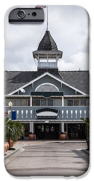 Balboa Downtown Main Street in Newport Beach iPhone Case by Paul Velgos