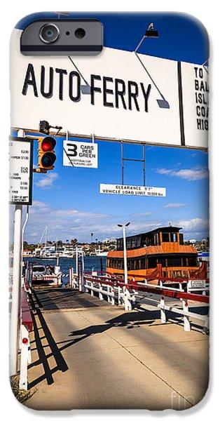Balboa Island Auto Ferry in Newport Beach California iPhone Case by Paul Velgos