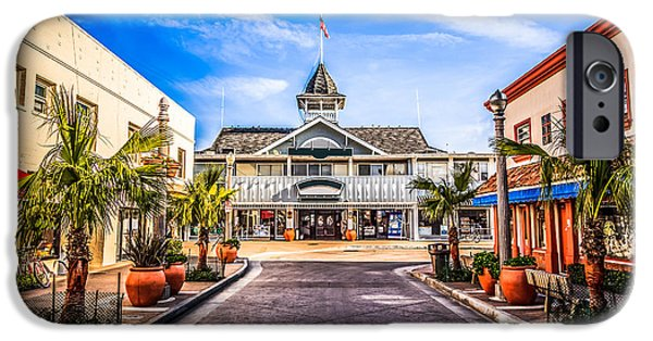 Business iPhone Cases - Balboa Main Street in Newport Beach Picture iPhone Case by Paul Velgos