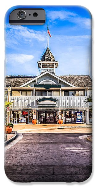 Balboa Main Street in Newport Beach Picture iPhone Case by Paul Velgos