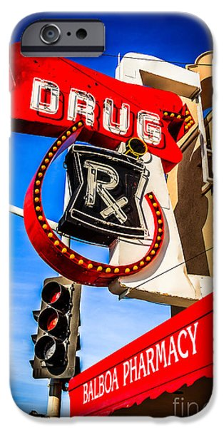 Balboa Pharmacy Drug Store Newport Beach Photo iPhone Case by Paul Velgos