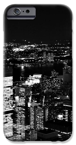Empire State Pyrography iPhone Cases - Balck and White New York iPhone Case by Albert Chernogorov