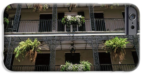 Balcony iPhone Cases - Balconies Of A Building, French iPhone Case by Panoramic Images