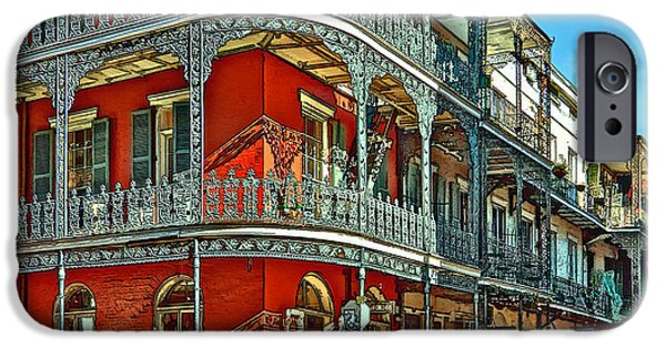 Balcony Digital iPhone Cases - Balconies painted iPhone Case by Steve Harrington