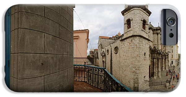 Balcony iPhone Cases - Balcony Along Plaza De La Catedral, Old iPhone Case by Panoramic Images