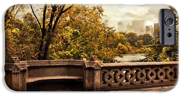 Balcony Digital iPhone Cases - Balcony Bridge Views iPhone Case by Jessica Jenney