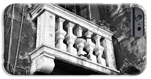 Venetian Balcony iPhone Cases - Balcony Made of Stone iPhone Case by John Rizzuto