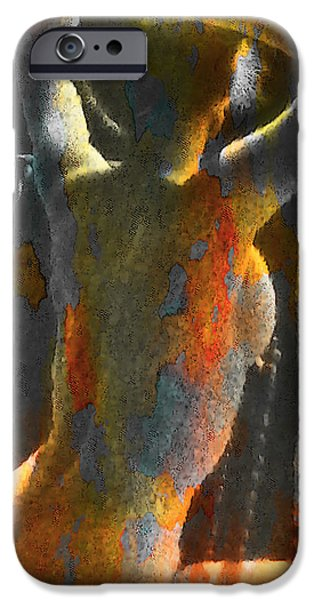 Michael Mixed Media iPhone Cases - Balcony Nude iPhone Case by M and L Creations