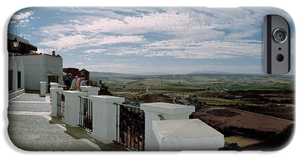 Balcony iPhone Cases - Balcony Of A Building, Parador, Arcos iPhone Case by Panoramic Images