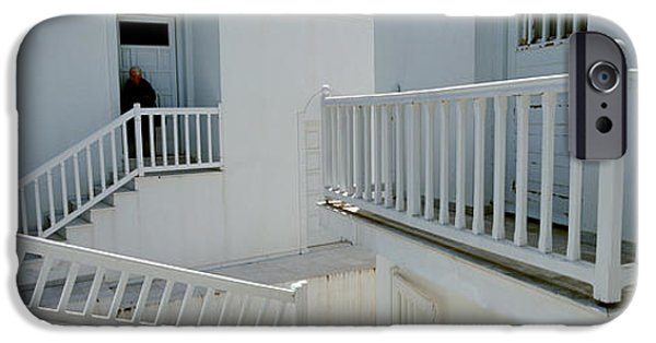 Balcony iPhone Cases - Balcony Of A House, Naxos, Cyclades iPhone Case by Panoramic Images