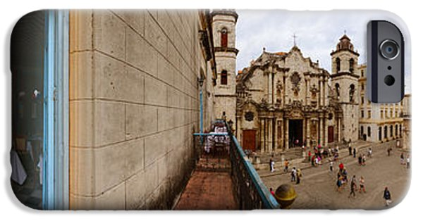 Balcony iPhone Cases - Balcony Overlooking The Plaza De La iPhone Case by Panoramic Images