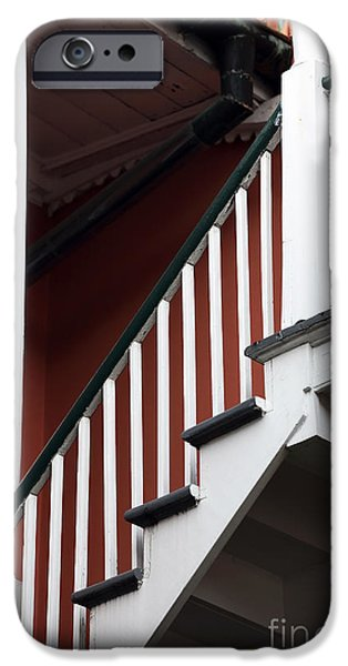 Balcony Photographs iPhone Cases - Balcony Stairs iPhone Case by John Rizzuto