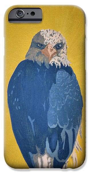 Eagle Pastels iPhone Cases - Bald Eagle iPhone Case by Ana Bar