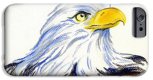 States Pastels iPhone Cases - Bald Eagle Portrait iPhone Case by MM Anderson