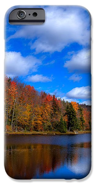 Bald Mountain Pond in Autumn iPhone Case by David Patterson