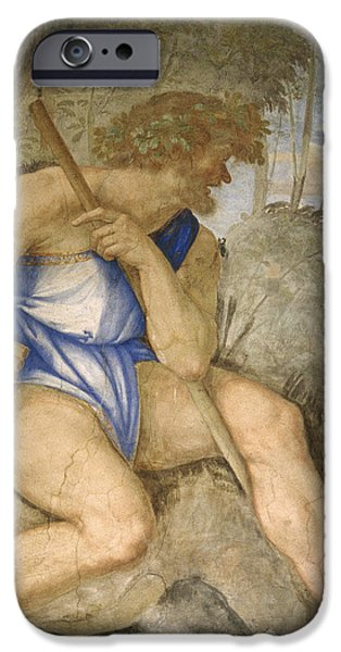 Painter Photographs iPhone Cases - Baldassare Peruzzi 1481-1536. Italian Architect And Painter. Villa Farnesina. Polyphemus. Rome iPhone Case by Baldassarre Peruzzi