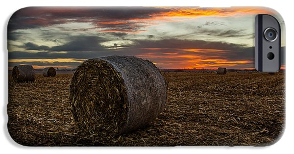 Hay Bales iPhone Cases - Bales iPhone Case by Aaron J Groen