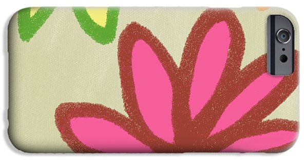 Abstract Floral iPhone Cases - Bali Garden iPhone Case by Linda Woods