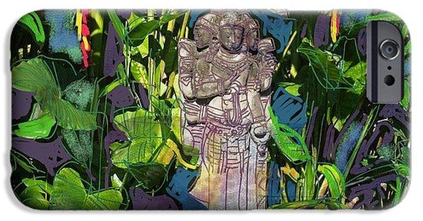 Hindu Goddess iPhone Cases - Bali Hindu statue I iPhone Case by Marte Van Osch