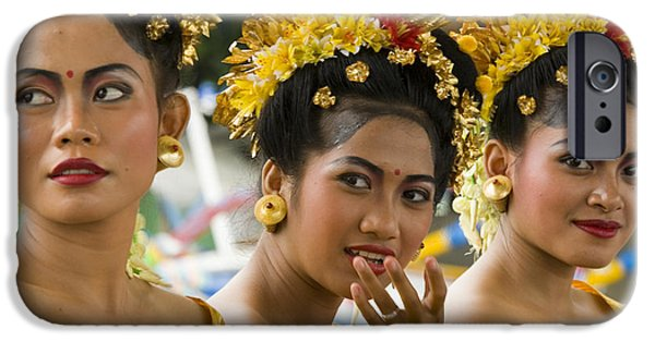 Young Photographs iPhone Cases - Balinese Dancers iPhone Case by David Smith