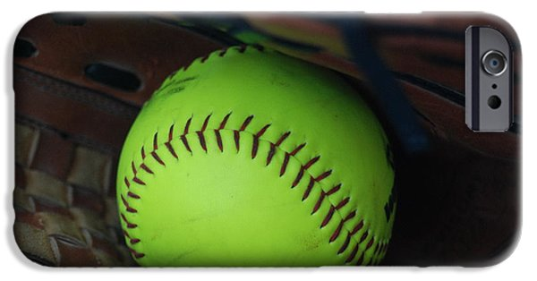 Ball And Glove iPhone Cases - Ball and Glove iPhone Case by Mark McReynolds