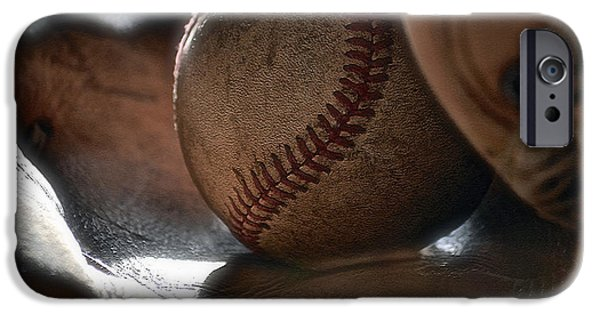 Ball And Glove iPhone Cases - Ball and Glove Still Life iPhone Case by Bill Owen