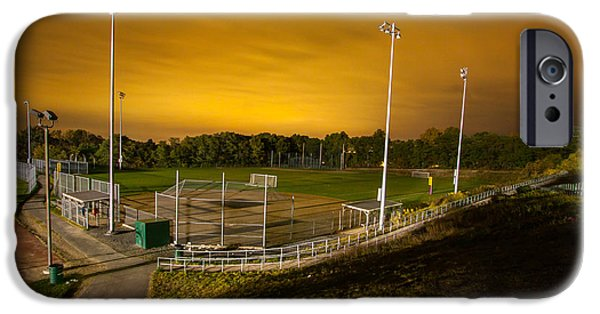 Best Sellers -  - Boston Ma iPhone Cases - Ball field at Night iPhone Case by Brian MacLean