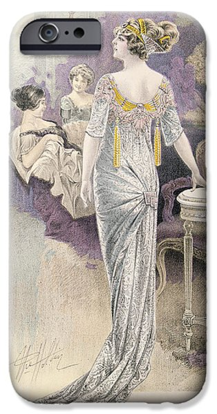 Evening iPhone Cases - Ball Gown iPhone Case by French School