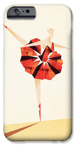 Ballet Digital Art iPhone Cases - Ballance  iPhone Case by VessDSign