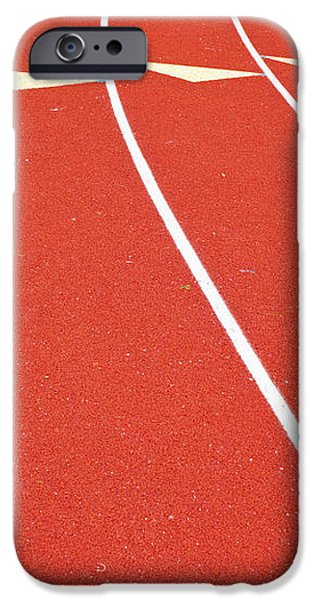 Ballard High School Track Sruface iPhone Case by Nathan Griffith