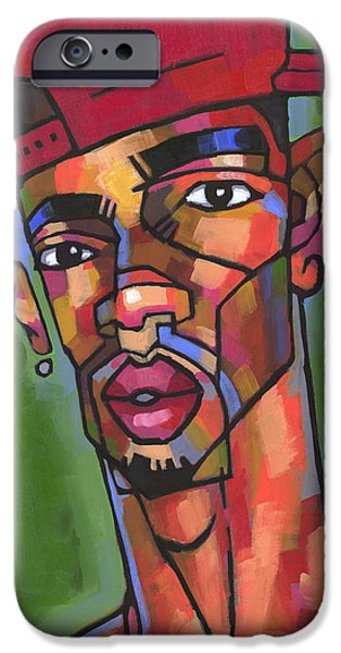 African American Paintings iPhone Cases - Baller iPhone Case by Douglas Simonson