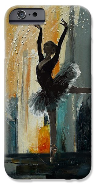 Leonid iPhone Cases - Ballerina 17 iPhone Case by Mahnoor Shah