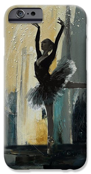 Leonid iPhone Cases - Ballerina 18 iPhone Case by Mahnoor Shah