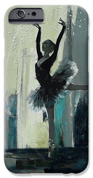 Ballet Dancers iPhone Cases - Ballerina 19 iPhone Case by Mahnoor Shah