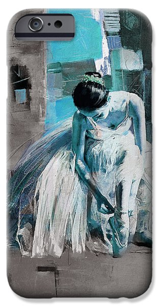 Leonid iPhone Cases - Ballerina 21 iPhone Case by Mahnoor Shah