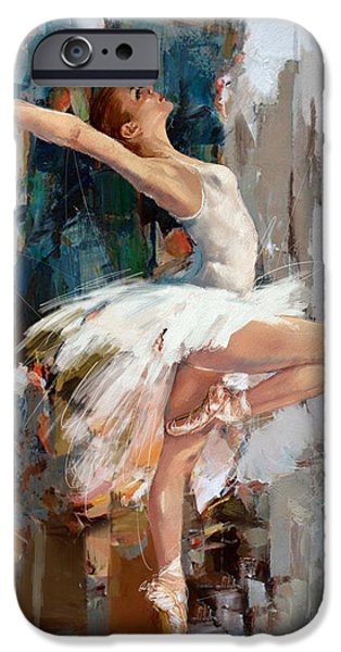 Leonid iPhone Cases - Ballerina 22 iPhone Case by Mahnoor Shah